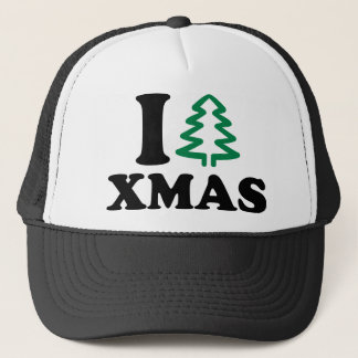 I love tree Xmas Trucker Hat