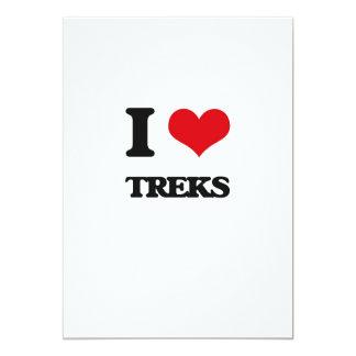 I love Treks 13 Cm X 18 Cm Invitation Card