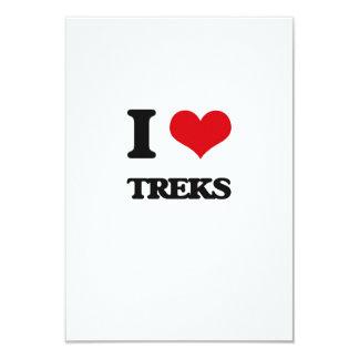 I love Treks 9 Cm X 13 Cm Invitation Card