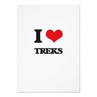 I love Treks 5x7 Paper Invitation Card