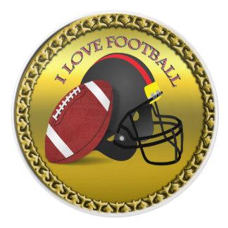 I love trendy elegant modern football ceramic knob
