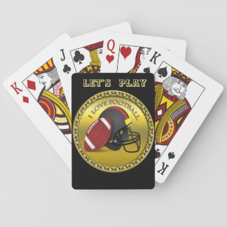 I love trendy elegant modern football playing cards