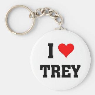 I love Trey Basic Round Button Key Ring