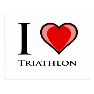 I Love Triathlon Postcard
