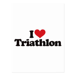 I Love Triathlon Post Cards
