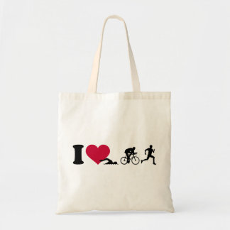I love triathlon tote bag