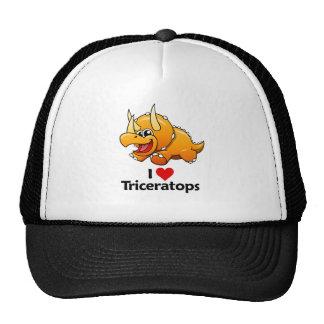 I Love Triceratops Cap