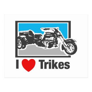 I love trikes - Motorcycles Postcard