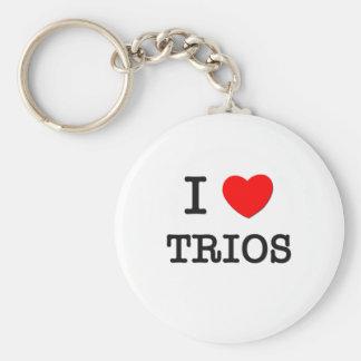 I Love Trios Basic Round Button Key Ring