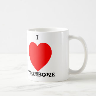 I Love Trombone Coffee Mug