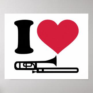 I love Trombone Poster
