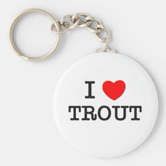 I Love TROUT ( food ) Key Chain