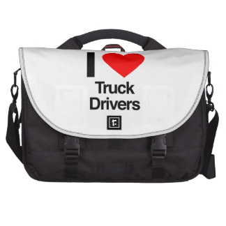i love truck drivers laptop bags