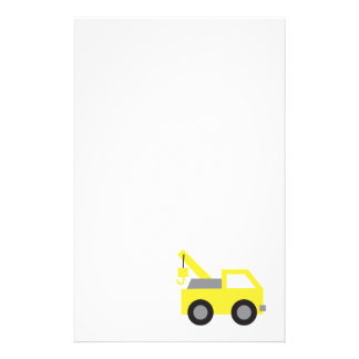 I love Trucks, Cute Yellow Vehicle for kids Stationery Paper