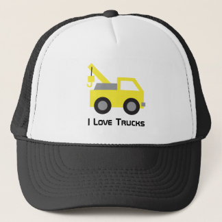 I love Trucks, Cute Yellow Vehicle for Trucker Hat