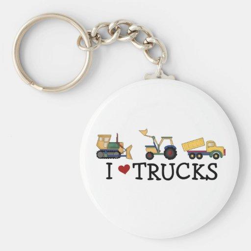 I Love Trucks Key Chains
