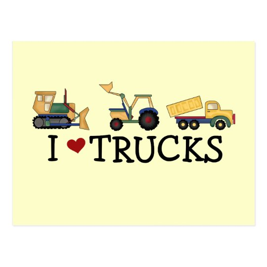 I Love Trucks T-shirts and Gifts Postcard