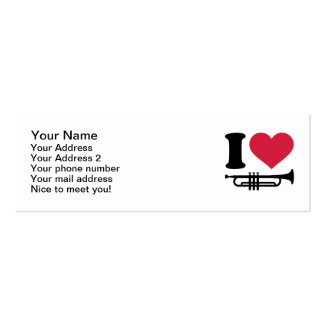 I love trumpet business card template