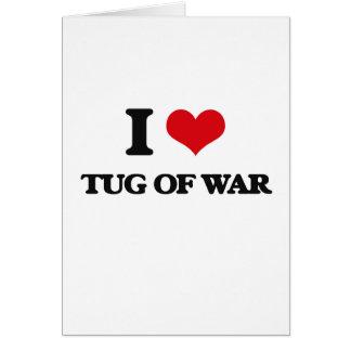 I Love Tug Of War Cards