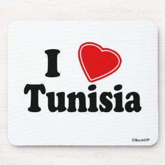 I Love Tunisia Mousepads