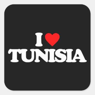 I LOVE TUNISIA SQUARE STICKER