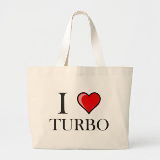 I Love Turbo Large Tote Bag