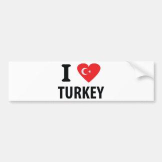 I love turkey icon bumper sticker