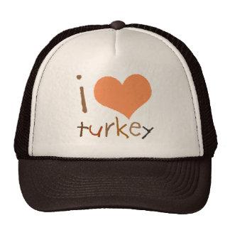 I Love Turkey Trucker Hat