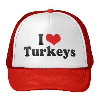 I Love Turkeys Hats