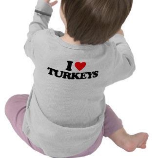 I LOVE TURKEYS TSHIRTS