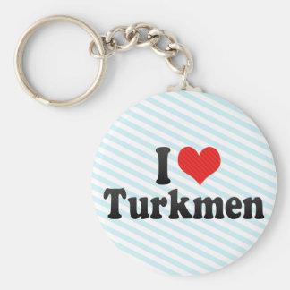 I Love Turkmen Keychains
