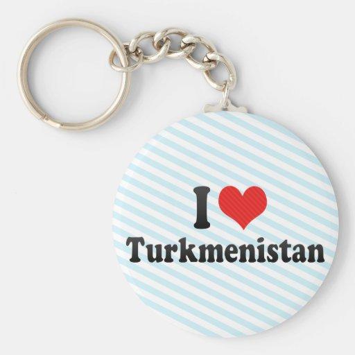 I Love Turkmenistan Key Chain