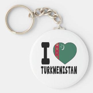 I Love Turkmenistan Key Chains