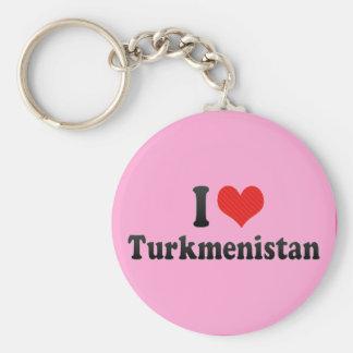 I Love Turkmenistan Keychain