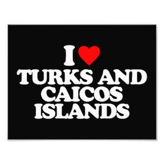 I LOVE TURKS AND CAICOS ISLANDS PHOTO PRINT