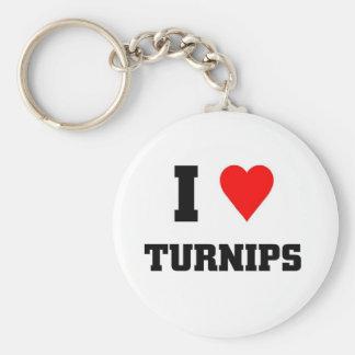 I love Turnips Basic Round Button Key Ring