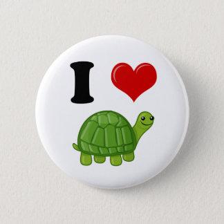 I Love Turtles 6 Cm Round Badge