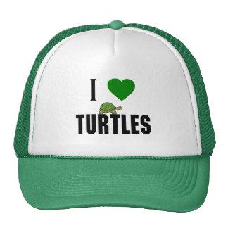 I Love Turtles Hat
