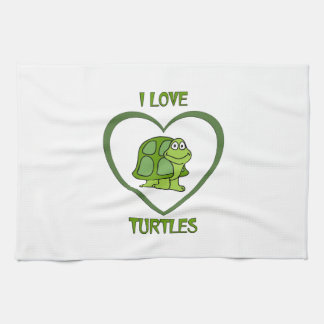 I Love Turtles Tea Towel