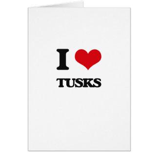 I love Tusks Greeting Card