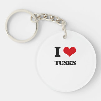 I love Tusks Single-Sided Round Acrylic Keychain