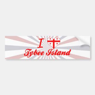 I Love Tybee Island Georgia Bumper Sticker