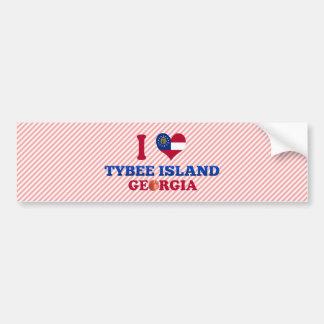 I Love Tybee Island, Georgia Bumper Sticker