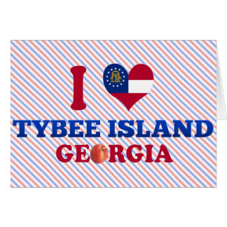 I Love Tybee Island, Georgia Greeting Cards
