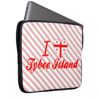 I Love Tybee Island Georgia Laptop Sleeve