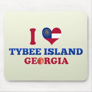 I Love Tybee Island, Georgia Mouse Pad