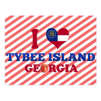 I Love Tybee Island, Georgia Post Cards