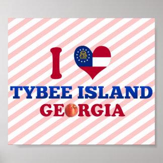 I Love Tybee Island, Georgia Print