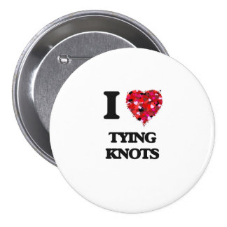 I love Tying Knots 7.5 Cm Round Badge
