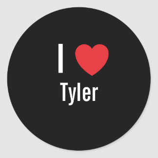I love Tyler Classic Round Sticker